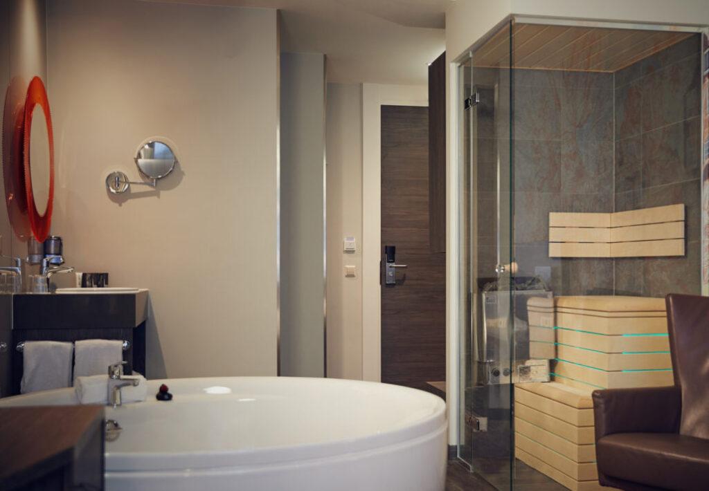 Hotelkamer in centrum Amsterdam met privé sauna en jacuzzi